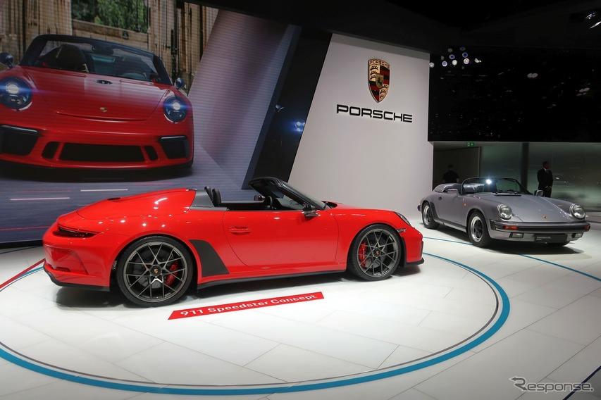 クルマ好きのハートを射抜いた! ポルシェ 911スピードスター…パリモーターショー2018