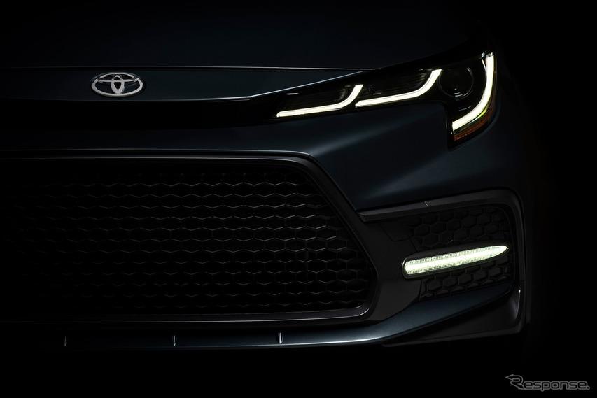 トヨタ・カローラ(セダン)新型のティザーイメージ