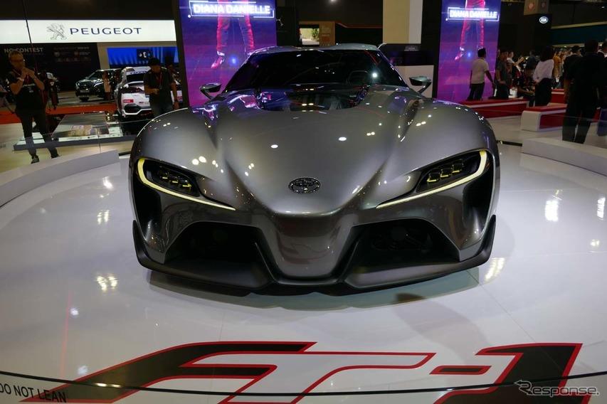 トヨタ渾身のスーパーカー・コンセプトモデル「FT-1」も出展された