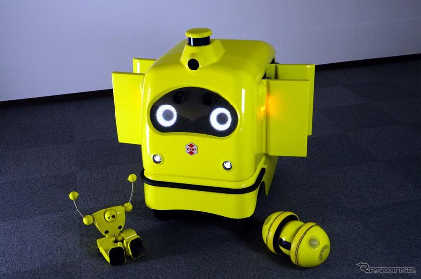 宅配ロボットに新色イエロー登場、コンビニ宅配サービス実証実験開始へ