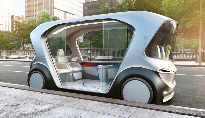 都市向けシャトルサービス、ボッシュが自動運転EVを提案へ…CES 2019