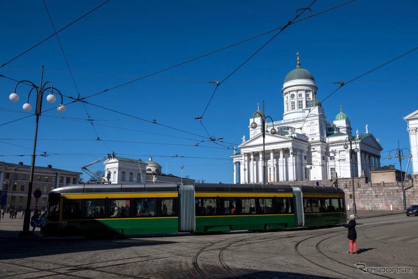 ヘルシンキのトラム(路面電車) (c) Getty Images