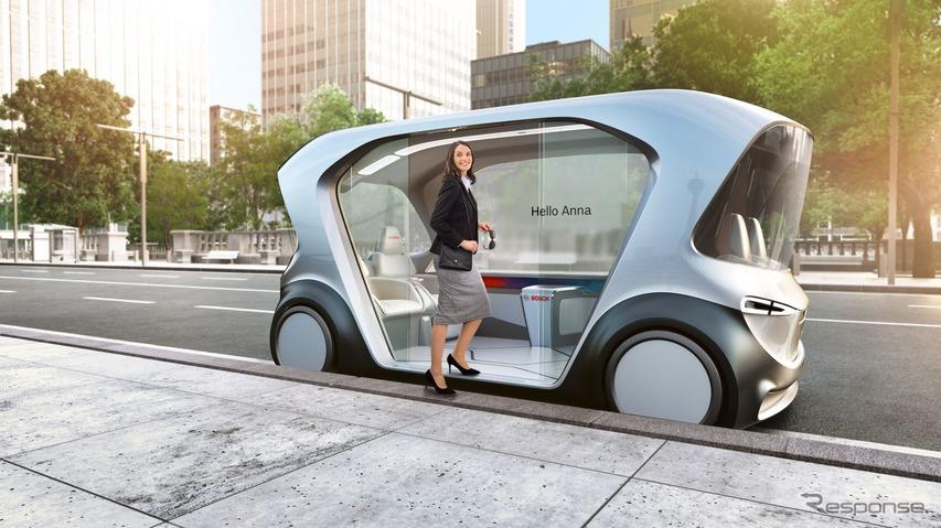 自動運転EVによるシャトルサービス、ボッシュがデモ体験…CES 2019で実施予定