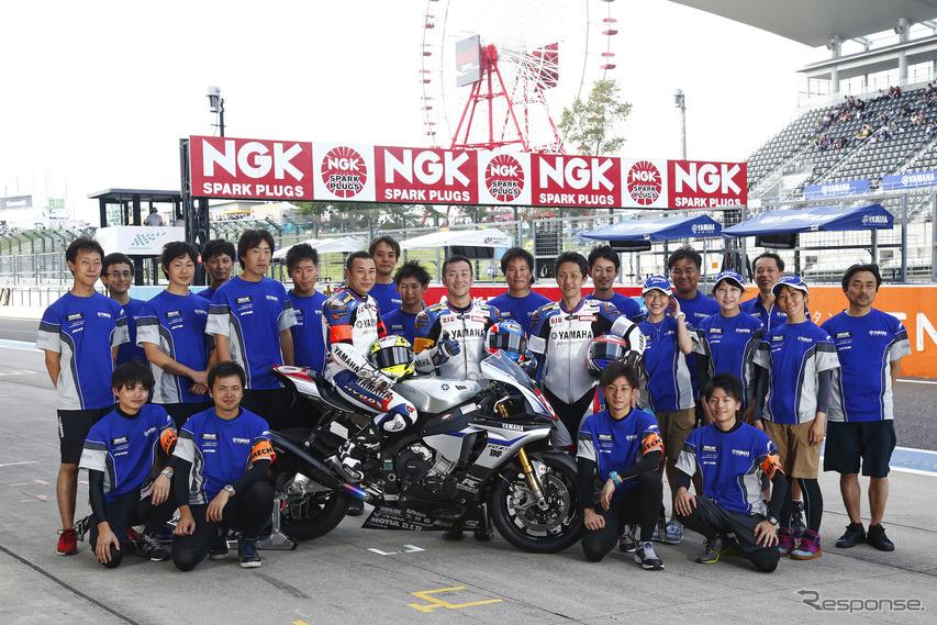 ヤマハの社員チーム「磐田レーシングファミリー」メンバーとして鈴鹿8耐にも参戦(写真は2015年)