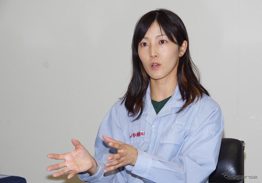 ヤマハ発動機 PF車両ユニット PF車両開発統括部 車両実験部の神谷久美子さん
