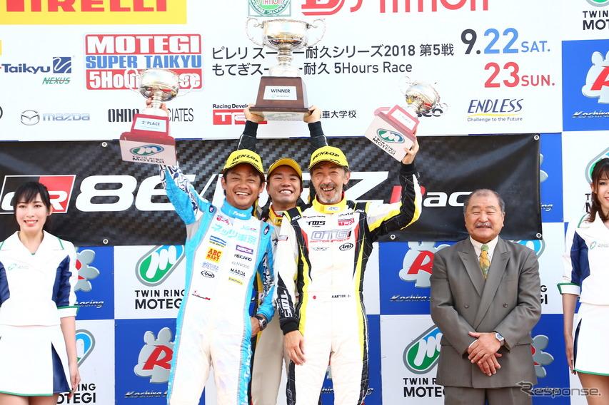 2018年、脇阪(左)は86/BRZレースに参戦した。