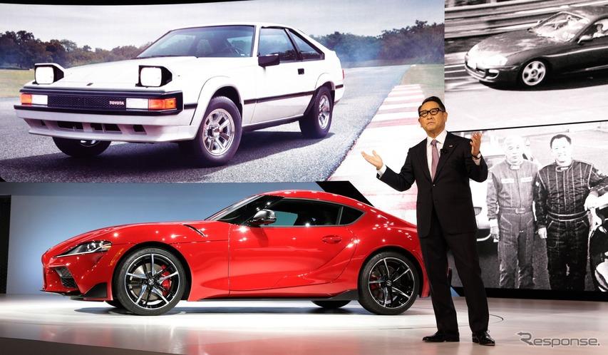 トヨタ スープラ 新型、発売記念車は豊田章男社長のサイン入り…デトロイトモーターショー2019