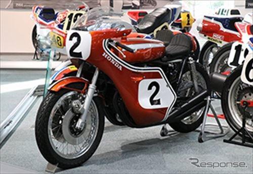 ホンダ CB750 レーサー(1970年)ディック・マンデイトナ200マイル優勝※展示車は当時の部品を使用し忠実に再現したマシン