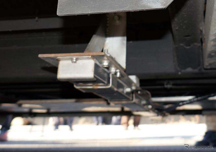 車両の底部に取り付けられた磁気センサモジュール