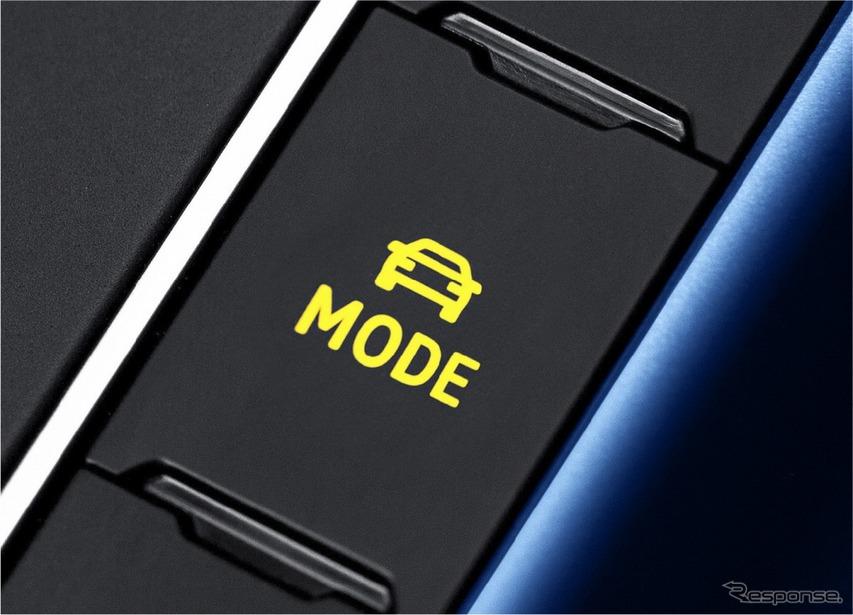 VW ポロ TSI R-ライン ドライビングプロファイル機能ボタン