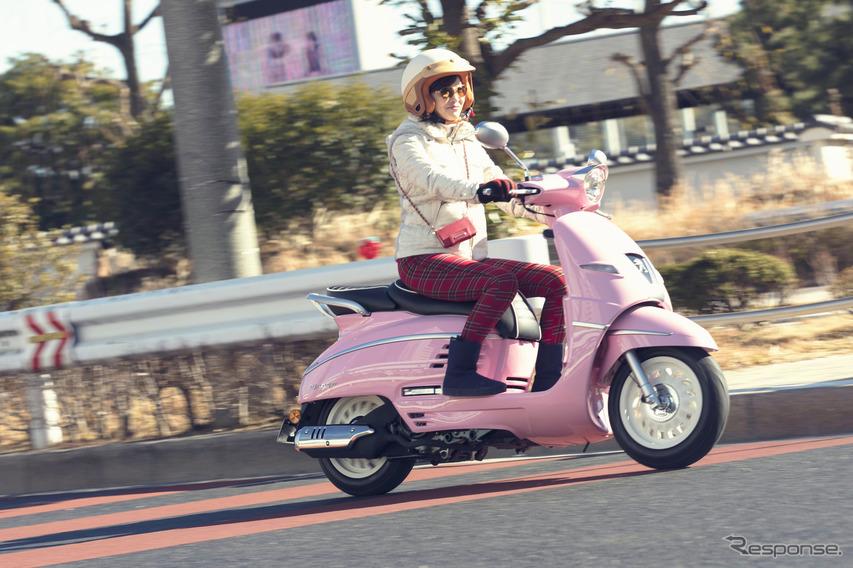 プジョー ジャンゴ125 ABS(ディープピンク)