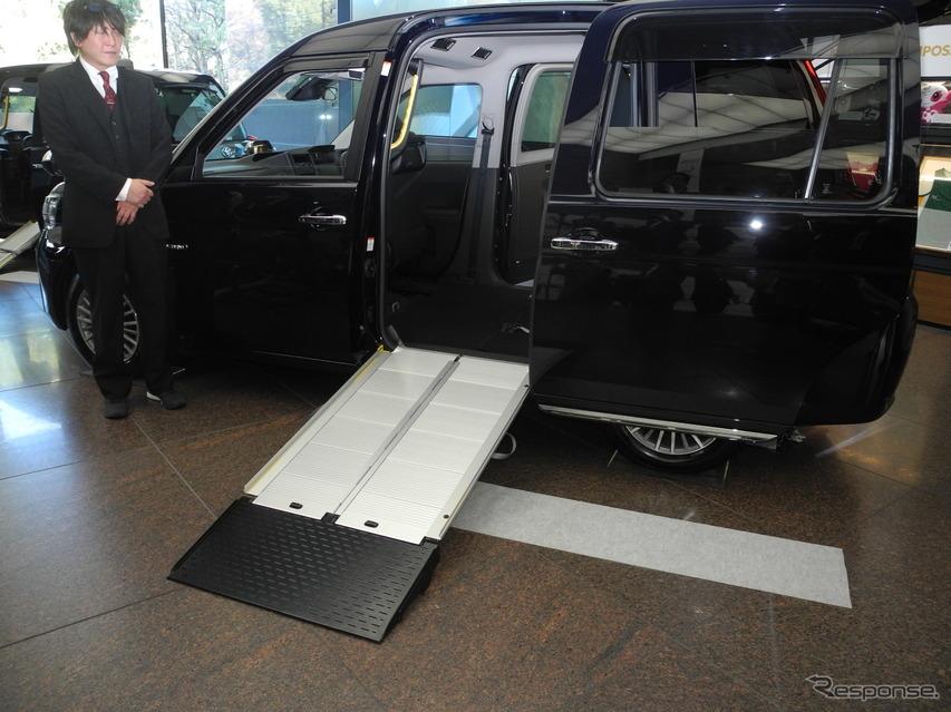 3月発売予定の改良したジャパンタクシー