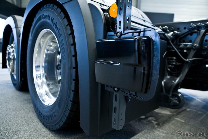 メルセデスベンツの「サイドガードアシスト」付き大型トラック、アントス