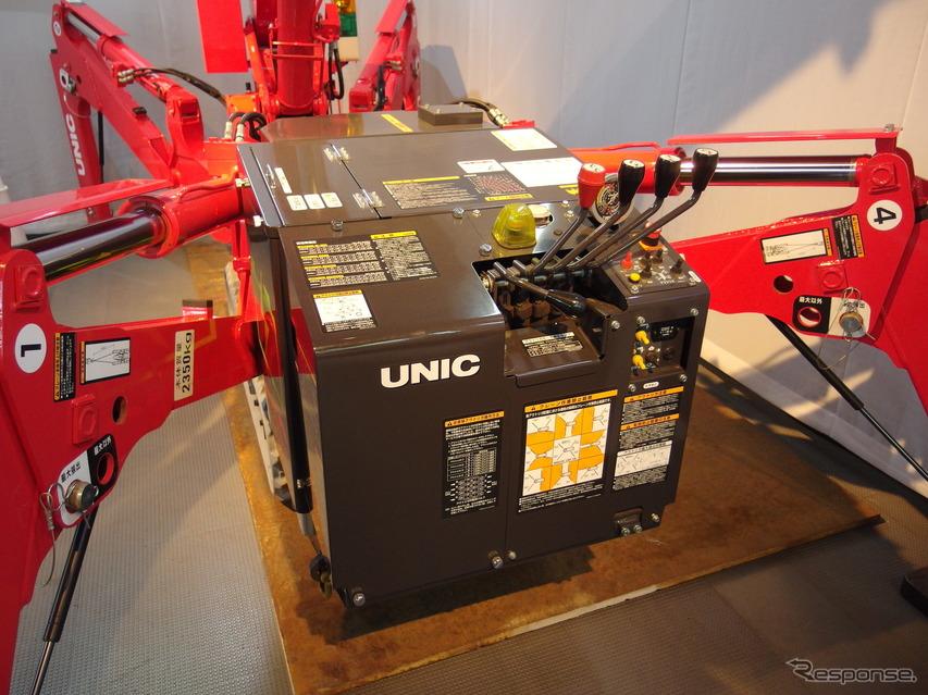 古河ユニックのバッテリー式ミニ・クローラクレーン『UR-W295CBR』