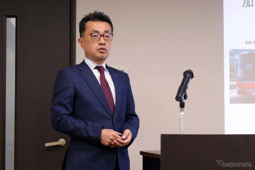三菱ふそうトラック・バスのバス開発部長 伊藤貴之氏
