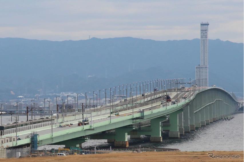 橋桁の復旧状況(2月14日)