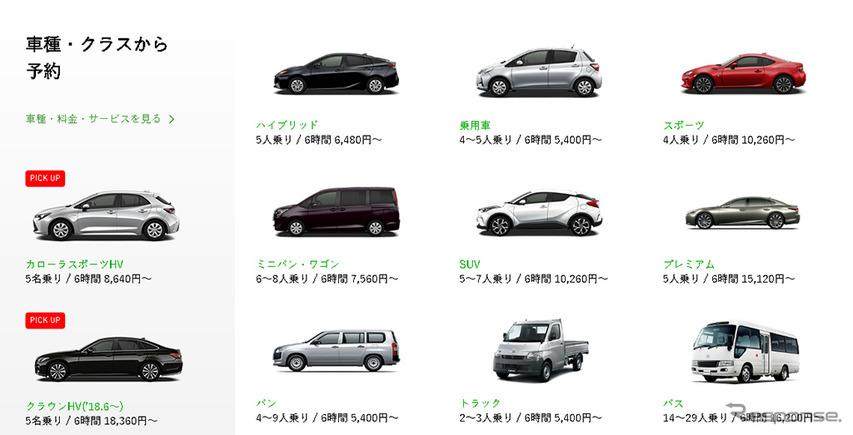 トヨタレンタカー(Webサイト)