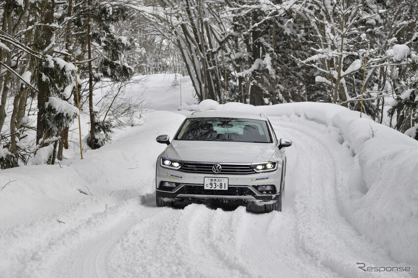 VW ティグアン&パサート、ディーゼルエンジン×四輪駆動の安定した快適な雪上ドライブ