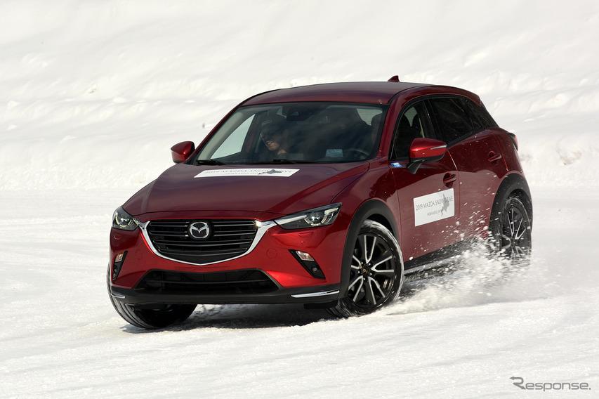 マツダ i-ACTIV AWDとGVCの進化を雪上で実感… マツダ3 と CX-3プロトタイプ で試す