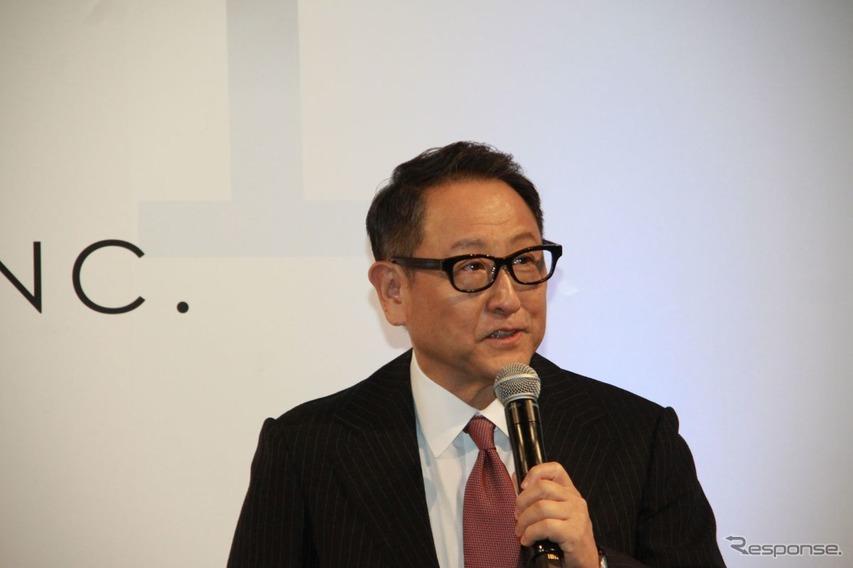 豊田章男社長がサプライズ登壇