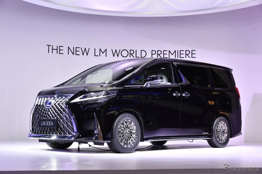 レクサス初のミニバン『LM300h』公開、2列シートのみで「最上級の空間」…上海モーターショー2019