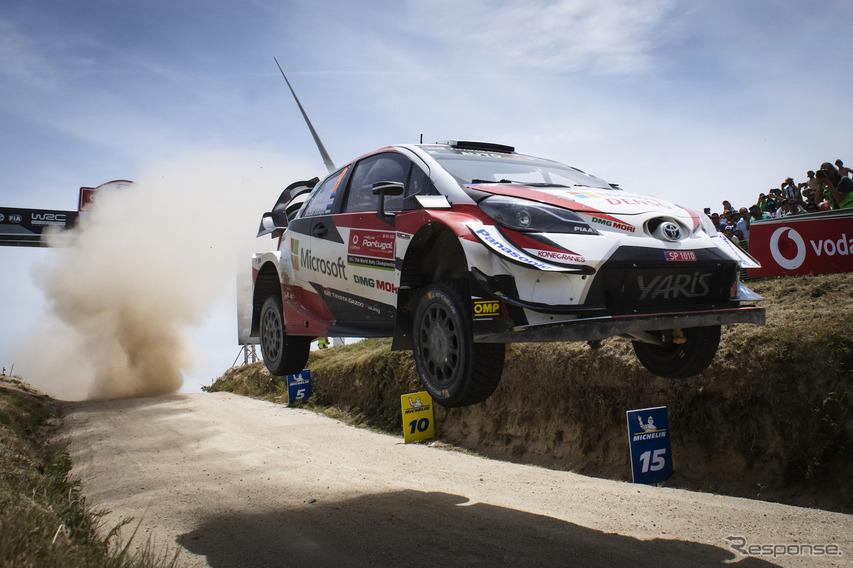 【WRC 第7戦】トヨタのオット・タナク、ポルトガル戦を制して2連勝…人車ともに今季3勝目