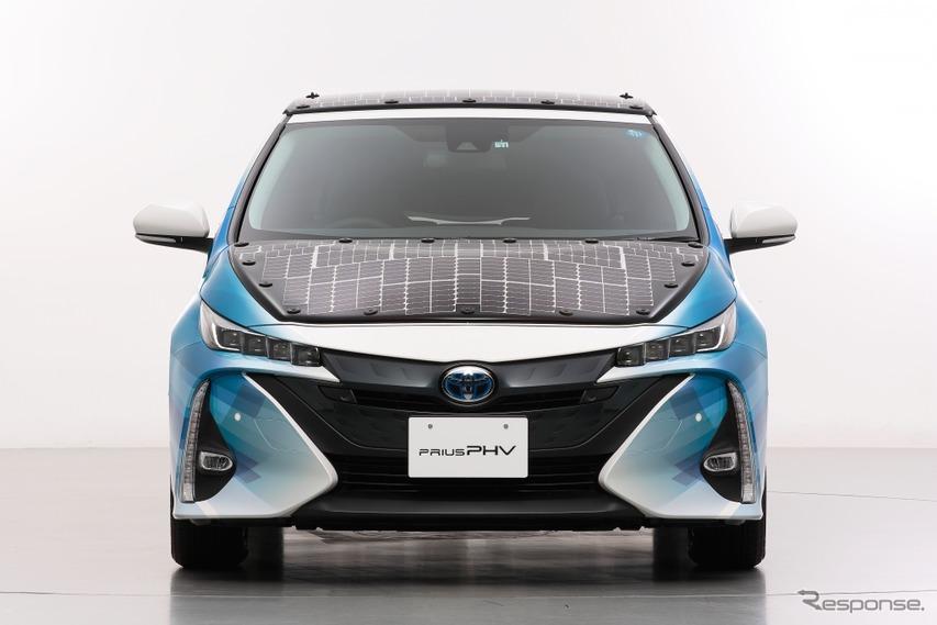 ソーラーパワーで走るトヨタ プリウス…高効率太陽電池EVを公道で走行実証ヘ