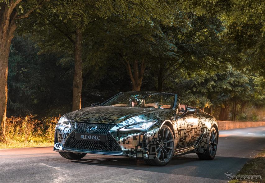 レクサス LCコンバーチブル(仮)試作車がヒルクライム…グッドウッド2019