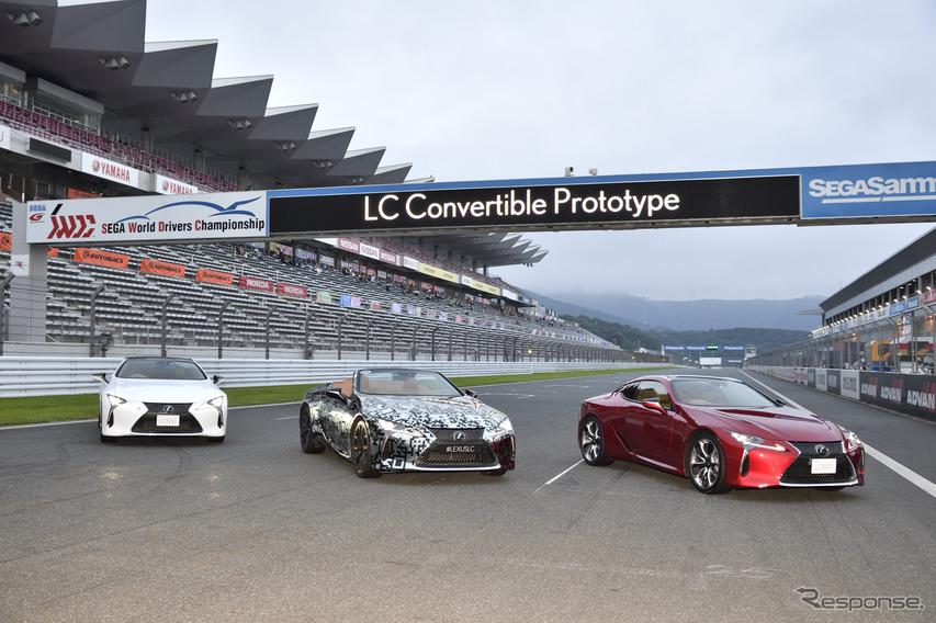 レクサス LCコンバーチブル プロトタイプをお披露目…SUPER GT 第5戦