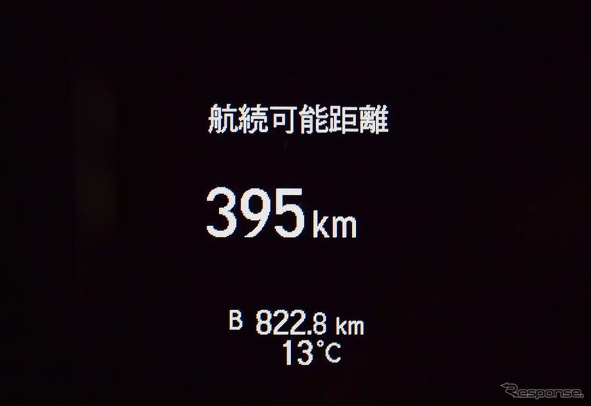 総走行距離822.8km。