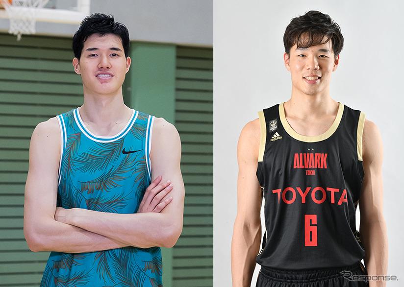 渡邊雄太選手(左)と馬場雄大選手