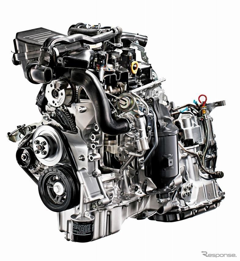 ツインカムDVVT 3気筒12バルブインタークーラーターボ付エンジン