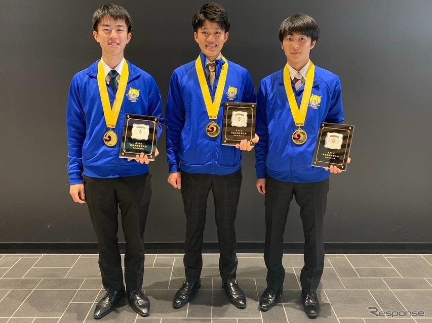 トヨタ自動車、3名が金メダル獲得 技能五輪全国大会