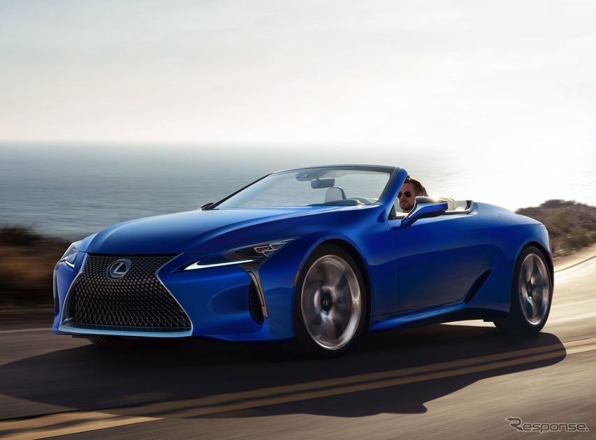 レクサス LC にコンバーチブル、市販モデルをロサンゼルスモーターショー2019で発表へ