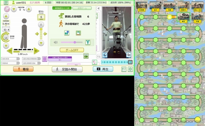 ゲーム機能 東海道五十三次結果