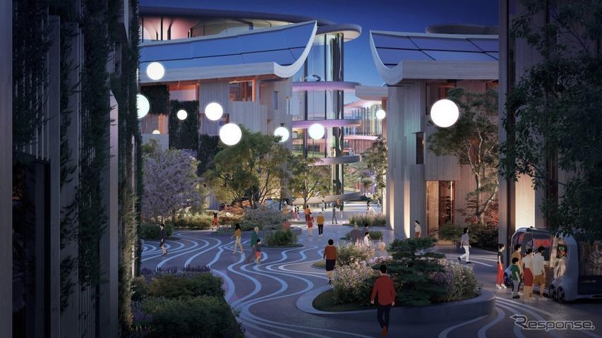 Plaza approach