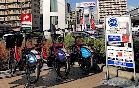 モビリティカンパニーへ、トヨタの新車販売店にサイクルポートを設置 東京臨海部