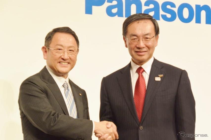 トヨタとパナソニック、車載電池新会社設立、4月1日より事業開始