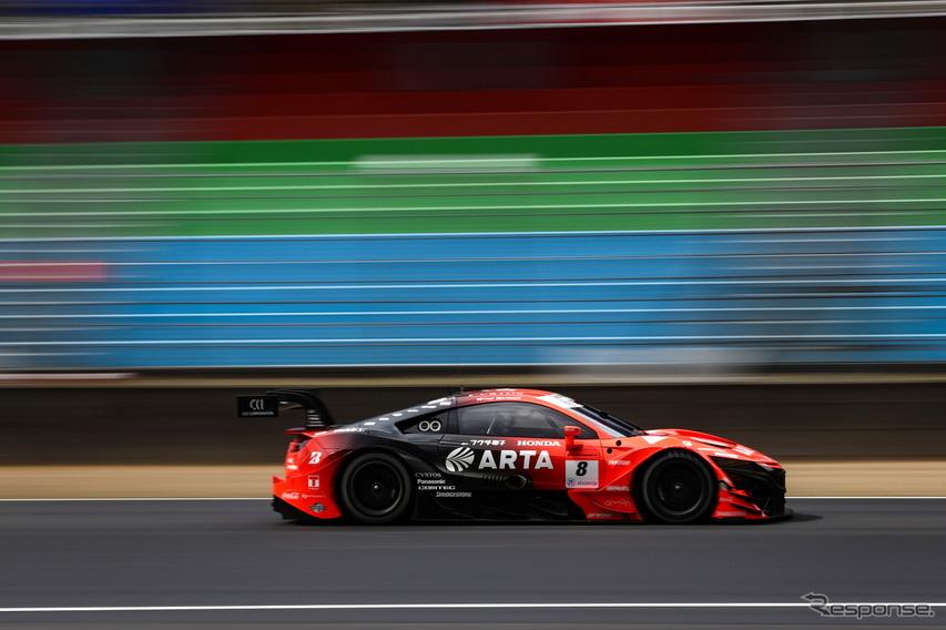 GT500クラス2番手タイムのARTA NSX-GT