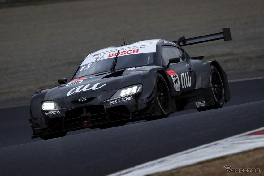 GT500クラス3番手タイムのau TOM'S GR Supra