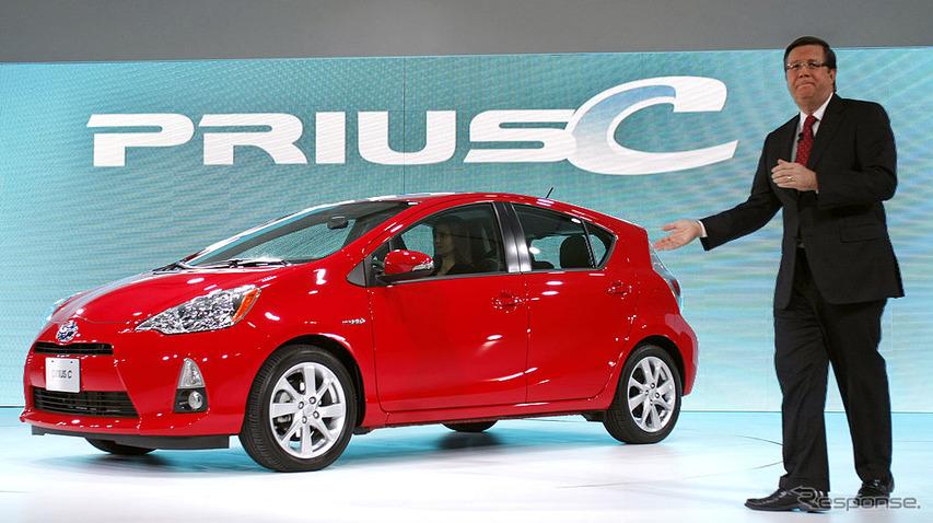 デトロイトモーターショー2012で紹介されたプリウスc。