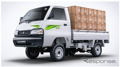 マルチスズキ『スーパーキャリイ』、最新排ガス基準適合の天然ガス車設定…インド小型商用車初