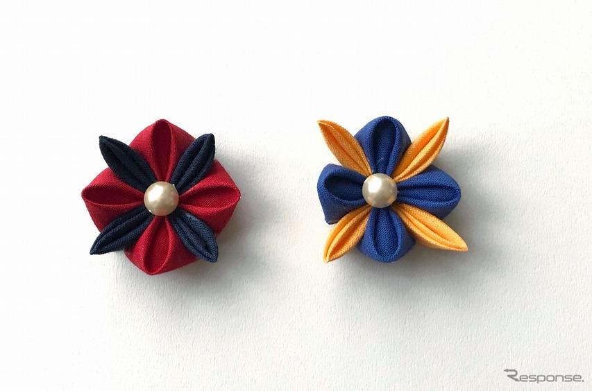 つまみ細工の髪飾り作り