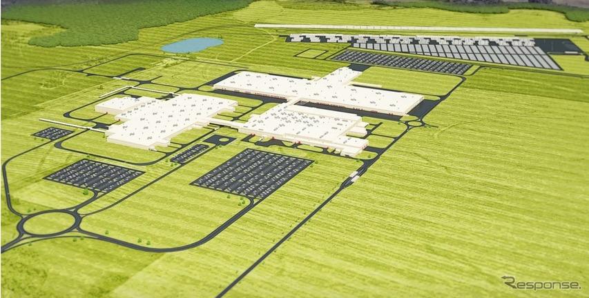 マツダとトヨタが米国に建設中の新工場の完成イメージ