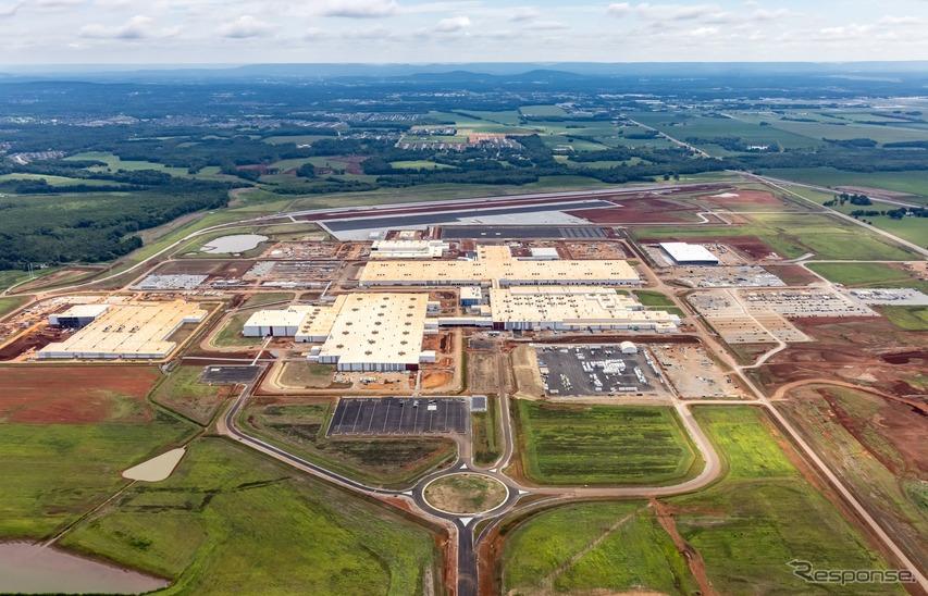 マツダとトヨタが米国アラバマ州ハンツビルに建設中の「マツダ・トヨタ・マニュファクチャリング」