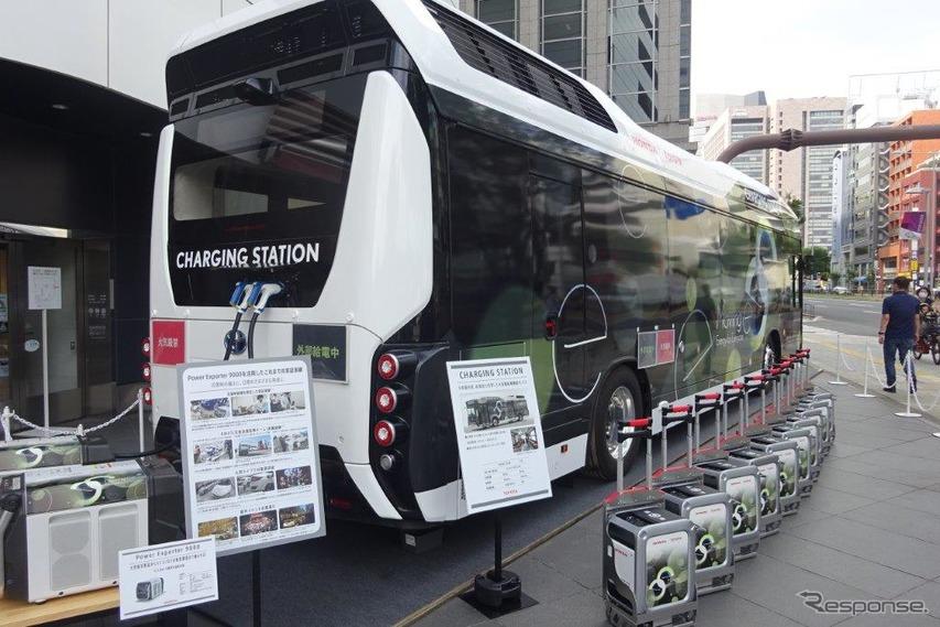 ホンダとトヨタの移動式発電・給電システム「Moving e」