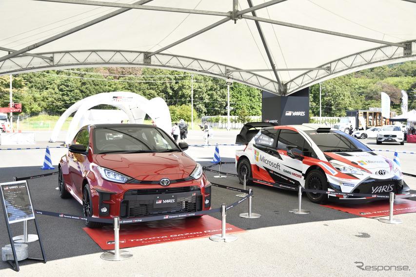 トヨタ GRヤリス、サーキットに展示…スーパー耐久24時間レース