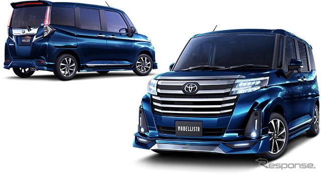 トヨタ ルーミー 改良新型 モデリスタ、エアロパーツなどカスタマイズアイテム発売