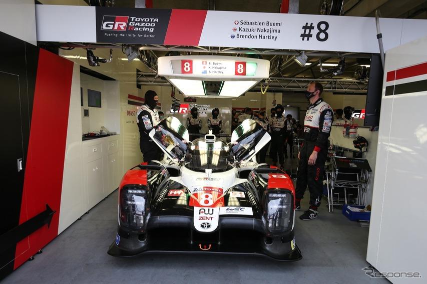 トヨタチームのウォームアップ(ルマン24時間レース、9月19日)