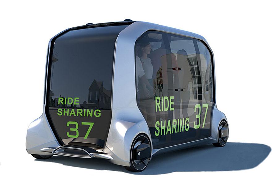 東京オリンピックでは選手村の移動などで用いられるという自動運転車「e-Palette」